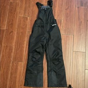 ARCTIX snow suit insulated black bib overalls